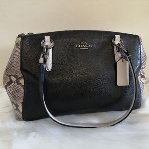 Coach Snakeskin Leather Carryall Purse